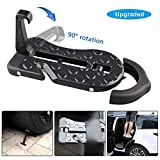 Automotive : 5 IN 1 Upgraded Car Rooftop Doorstep Folding Ladder Foot Pegs Easy Reach to Car Rooftop Roof-Rack, Vehicle Latch Door Step, Tire Stopper Safety Hammer for Jeep SUV Off-Road Car (Upgraded Car Doorstep)