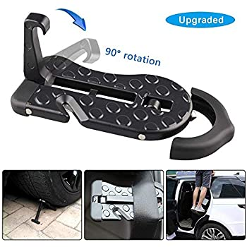 Stepknow Car Doorstep Vehicle Folding Ladder Foot Pegs Easy Access to Car Roo...