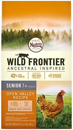 Wild Frontier Senior Grain Free Dry Cat Food Chicken Flavor, 2 Lb. Bag