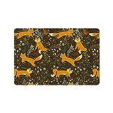 "Forest Friends Flowers And Fox Door Mat Doormat Rugs for Home/Office/Bedroom Rubber Non Slip 23.6""(L) x 15.7""(W)"