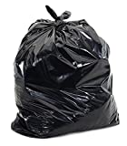 Salusware, 42 Gallon Extra Strong Contractor Trash Bags,3 Mil Thick, 48'' x, 33'' ,Black, 20 Count