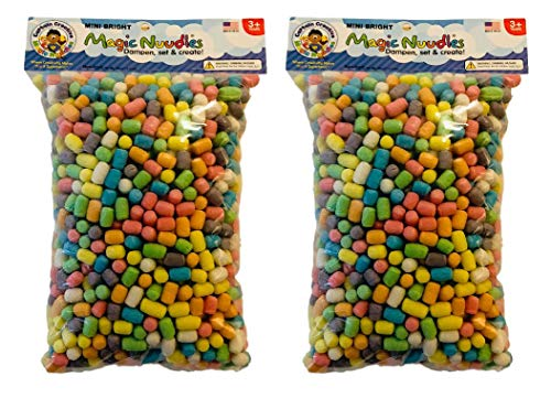 CAPTAIN CREATIVE CC50053 Bright Mini Magic Nodules, Medium Bag - STEM Arts and Crafts Toy for Kids - Build, Decorate, Create - Biodegradable and Non-Toxic (2 Pack), Mixed