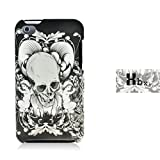 XBXI Apple Touch iPod Touch4 Butterfly Decal Mobile Phone Protective Sleeve Black White