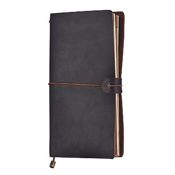 Aibecy Agenda Cuero Diario Cuaderno de Viaje Diario ...