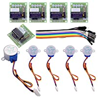 Elegoo 5 sets 28BYJ-48 ULN2003 5V Stepper Motor + ULN2003 Driver Board for Arduino from Elegoo