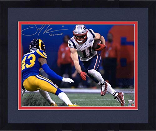 Bowl Autographed Nfl Super (Framed Julian Edelman New England Patriots Autographed 16