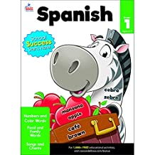 Carson Dellosa | Beginning Spanish Workbook | 1st Grade, 80pgs (Brighter Child: Grades 1)