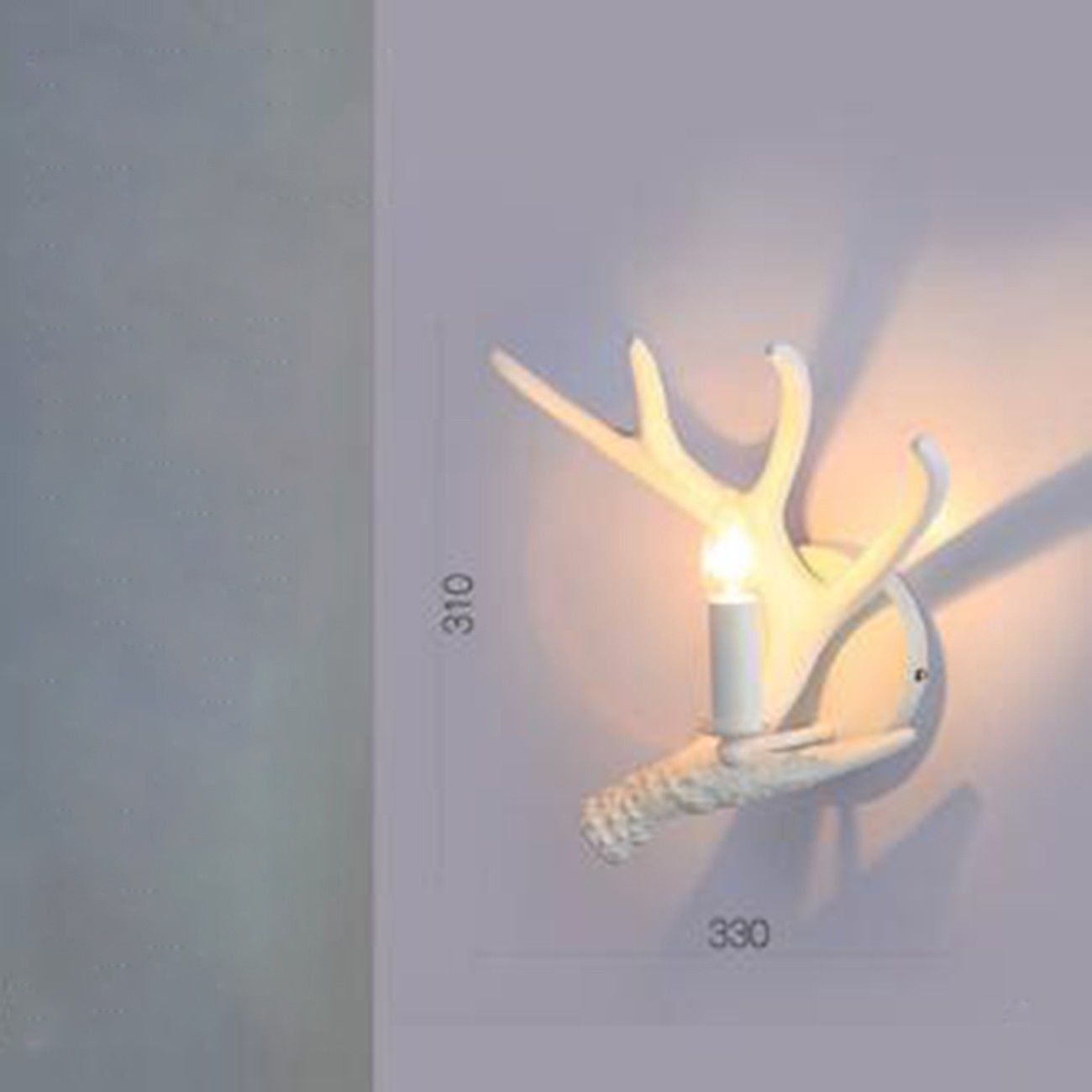 C T-ZBDZ Land Wandleuchte weiße Geweih Wand Lampe Wohnzimmer Nachttisch Schlafzimmer Dekoration Geweih Wandlampe, C