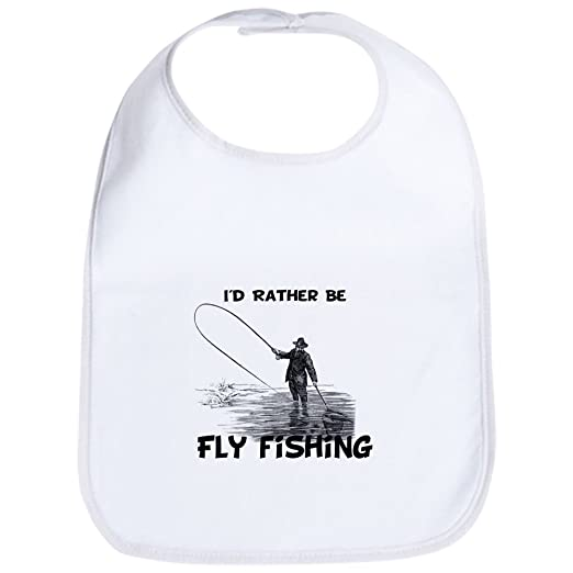 cc717660ab1 Amazon.com  CafePress - Fly Fishing Bib - Cute Cloth Baby Bib ...