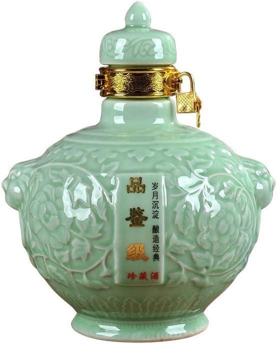 HENGTONGTONGXUN Botella de cerámica botella vacía botella de vino vacía del hogar sellada, puede utilizarse para decoración del hogar, protección del medio ambiente, buen sellado 500 ml, 1500 ml, 2500