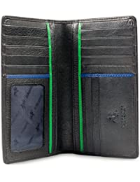 "Jaws BD12 Black Leather Tall Checkbook Wallet 4"" x 6.5"""