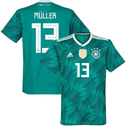 85b9c31595a Amazon.com   adidas Germany Away Müller 13 Jersey 2018 2019   Sports    Outdoors