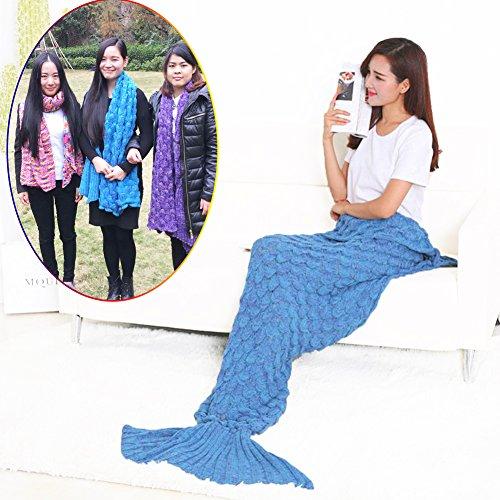 Lxiang-Warm-Mermaid-Tail-Blanket-CrochetHandmade-Mermaid-Blanket-for-Adult-Super-Soft-Comfortable-Suitable-for-All-Seasons-SleepingReadingWatching-WorkingSofa-Blankets