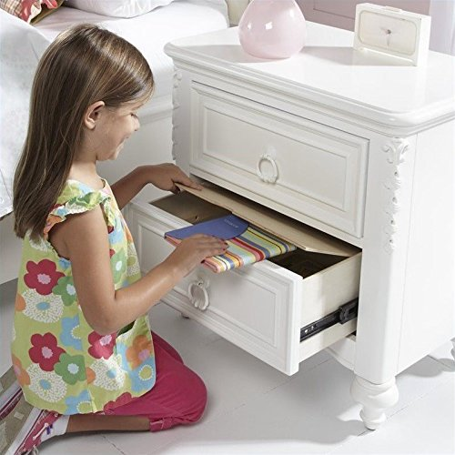 Samuel Lawrence Furniture SweetHeart Nightstand in White by Samuel Lawrence Furniture