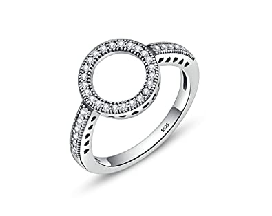 Anillos Luxury Fashion Bridal Set Ring for Women with Paved Micro Zircon Crystal (6)
