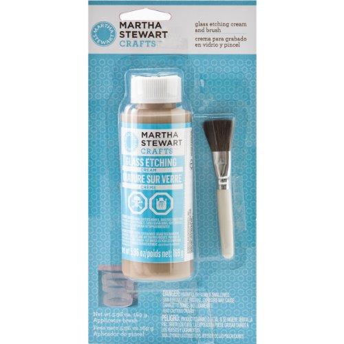 (Martha Stewart Crafts Glass Etch Cream with Brush (5.96 -Ounce), 33222 )