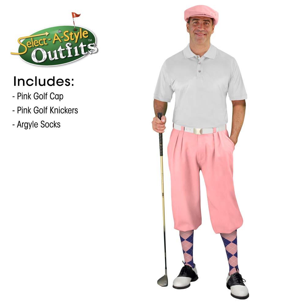 メンズselect-a-styleゴルフKnicker Outfit – ピンク 24 Navy/Pink Socks B07QX8VB28