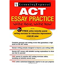 ACT Essay Practice by LearningExpress Editors (2007-05-01) Paperback