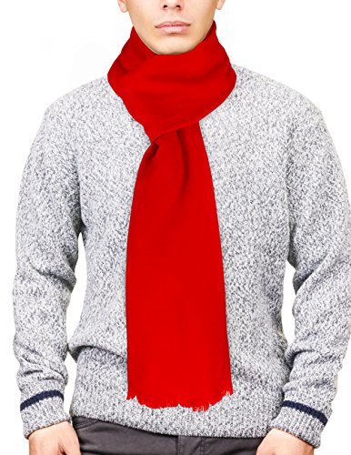 Dahlia 100% Cashmere Australian Super 80s Merino Wool Pashmina Scarf - Red