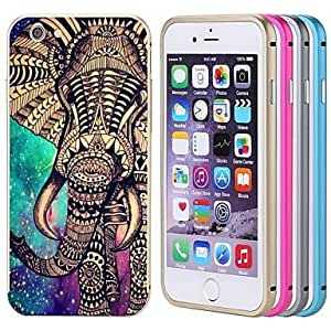 QJM iPhone 6 compatible Graphic/Metallic/Special Design/Novelty Bumper Frame , Rose