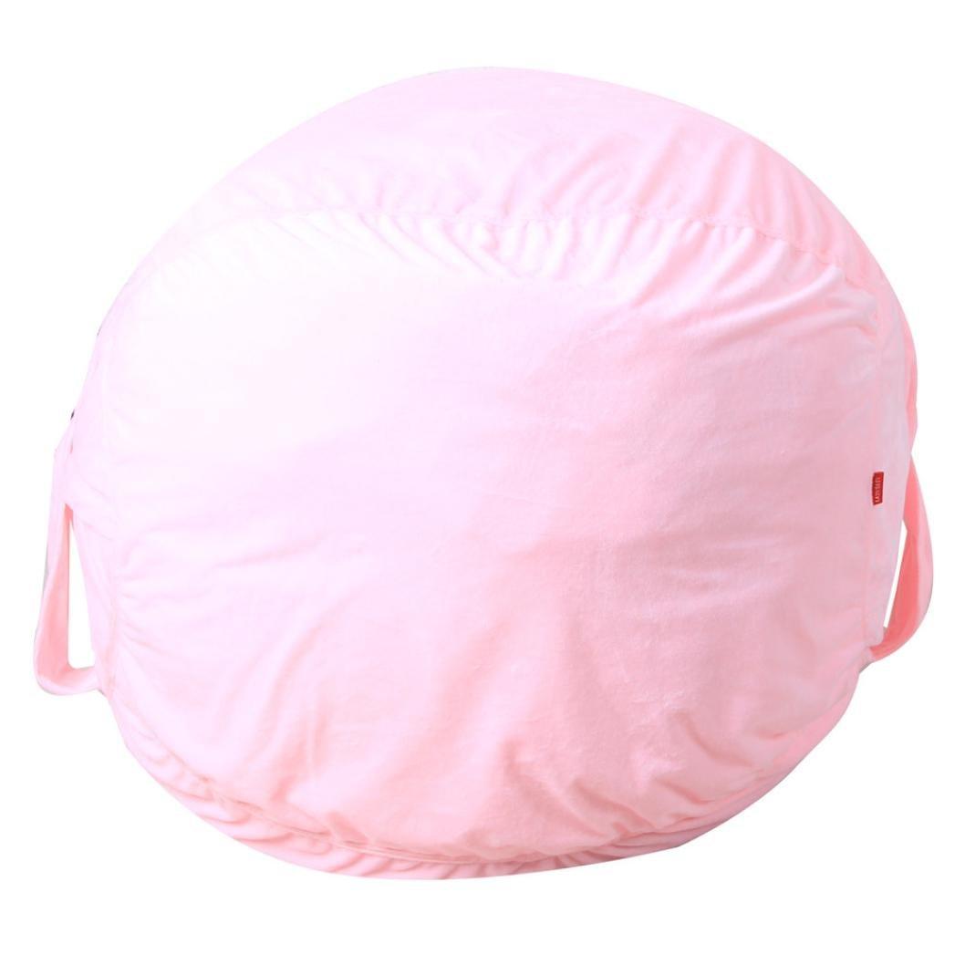 DDLBiz Kids 16 Inch Super Soft Stuffed Bean Bag For Household Organizer Storage Sack Toys Blanket Organization (Pink)