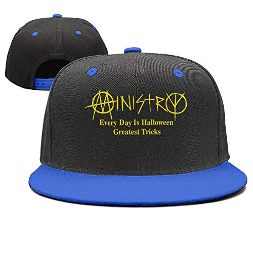 Everyday Is Halloween Ministry Album (HASIDHDNAC Ministry Every Day is Halloween Flat Cap Cool Adjustable Comfortable Hats for)