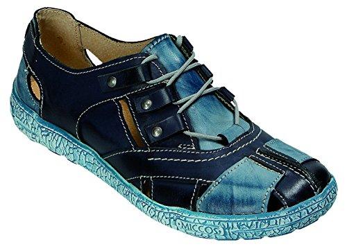 blau komb komb para Zapatos cordones de MICCOS blau mujer azul Wq80zTTw1