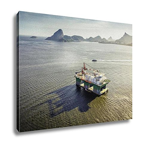 Ashley Canvas Oil Drilling Rig Rio De Janeiro Brazil Wall Art Decoration Picture Painting Photo Photograph Poster Artworks, 20x25