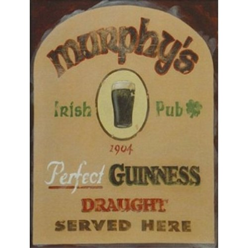 Buyartforless Murphy's Irish Pub by David Marrocco 18x24 Art Print Poster BAR Beer Poster Perfect Guinness Draught Served - Pub Murphys