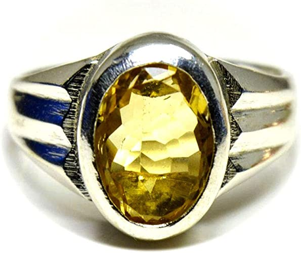 Jewelryonclick Natural November Birthstone Citrine Rings 925 Silver Oval Shape Jewelry for Gift Size 4-13