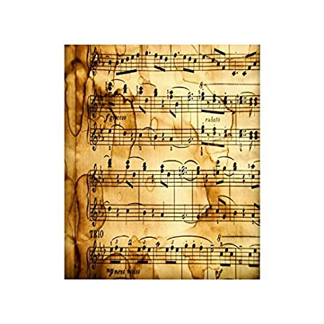 Amazon.com: Custom Poster Paper, Christmas/New Year Wall Decor Music ...
