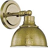 Jeremiah 35901-LB, Timarron Hammered Metal Brass 100 Watt, 1 Light Wall Sconce