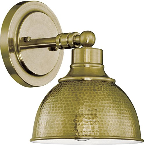 (Jeremiah 35901-LB, Timarron Hammered Metal Brass 100 Watt, 1 Light Wall Sconce)