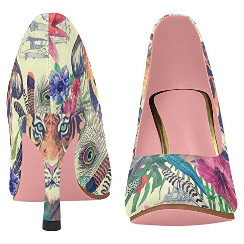 Interestprint Femmes Classique Mode Haute Talon Robe Pompe Chaussures Multi 9