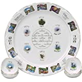 Heirloom Porcelain Seder Plate with Matching Plates