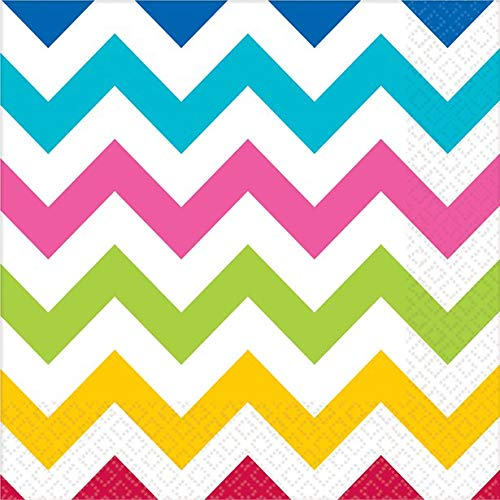 idealWigsNet Servilletas Rainbow Chevron - 33cm