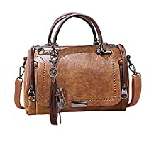 UniForU Handbags for Women Ladies Shoulder Bags Cross Body Bags Top Handle Purse(Brown)