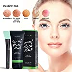 AsaVea Black Mask Peel off Mask With Brush 80g- Charcoal Blackhead Remover Deep Cleaning Facial Mask for Face & Nose, Pore Shrinking, Acne & Oil Control, Anti Aging