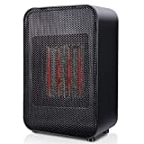 Ceramic Space Heater, 1500W Small/Mini Indoor Room Office Desk Electric Personal PTC Heater, Tip-Over and Overheating Protection, ETL Safety