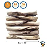 123 Treats Beef Jerky and Rawhide Twister Roll | 9-10″ Stick (6 Count) For Sale