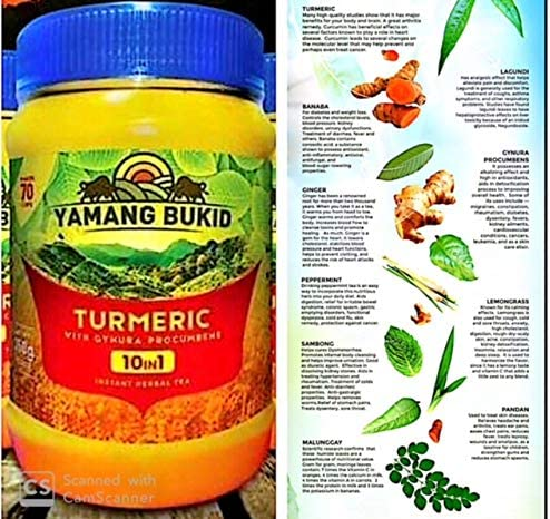 Turmeric 10-in-1 Herbal Tea Yamang Bukid's 350g