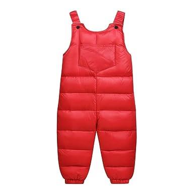 e14d8e81d Amazon.com  Baby Girl Boys Thick Warm Leggings Snowsuit Suspenders ...
