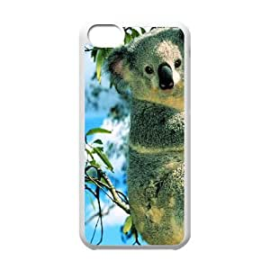 iPhone 5c Cell Phone Case White Koala Durable Protective Phone Case Cover XPDSUNTR12885