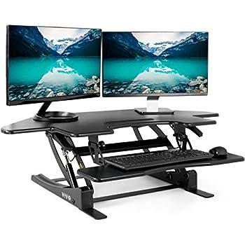 Amazon Com Vivo Black Corner Standing Height Adjustable