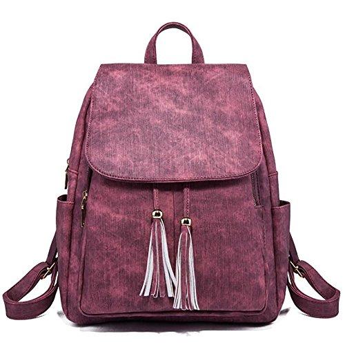 souple 13 en décontracté à dos cuir des main mode femmes 27 Sac à sac multifonctionnel PU la sac 30cm de 8wqnU7v