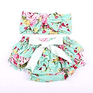aa3c0f5080bec Amazon.com: Laliva 10sets /lot New bloomers sets,Cotton fabric bow ...