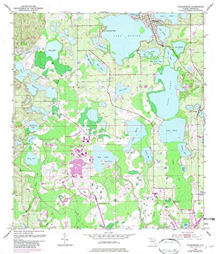 YellowMaps Windermere FL topo map, 1:24000 Scale, 7.5 X 7.5 Minute, Historical, 1953, Updated 1981, 26.8 x 22.9 in - Polypropylene