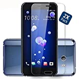 Kepuch HTC U11 Screen Protector - 2 Pack Tempered Glass Film 9H Hardness Curved Edge Protection for HTC U11