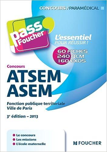 Lire Pass'Foucher Nouveaux concours ATSEM/ASEM 3e édition - 2013 epub, pdf