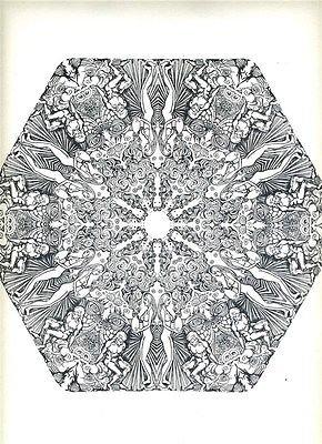 Psychedelic Mandalas Saladin Lithograph 1967